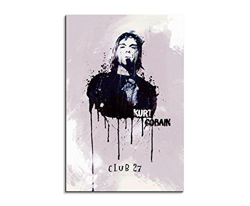 Kurt Cobain 90x 60cm bastidor imagen imagen acuarela
