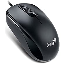 Genius DX-110 PS/2 Óptico 1000DPI Negro - Ratón (PS/2, Oficina, Pressed buttons, Rueda, Óptico, Windows 10 Home, Windows 7 Home Basic, Windows 8)