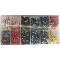 DoMoment Conectores aislados de cableado eléctrico Surtidos de 1200 Piezas Terminales de engaste Juegos de Kits