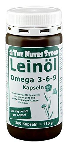 Omega-3-6-9 Leinöl 500 mg Kapseln 180 Stk.