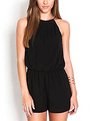 befied jumpsuit chiffon sommer damen overall clubwear. Black Bedroom Furniture Sets. Home Design Ideas