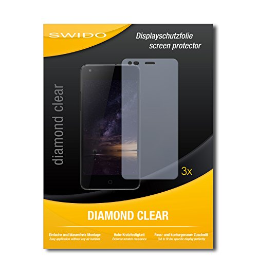 SWIDO 3 x Schutzfolie Siswoo I8 Panther Displayschutz Folie DiamondClear unsichtbar