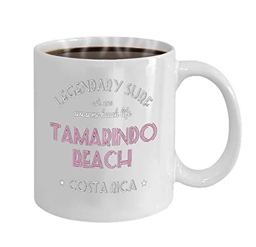 Personalized Pattern 100% Ceramic 11-Ounce Coffee Mug On Birthday, Christmas Tea Cup White legendary surf design surfing typographyhirt text tamarindo beach costa rica