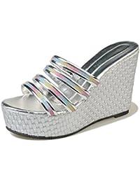 sandali aperti femminile della testa dei pesci selvatici scarpe comfort informale , bianca , US7.5 / EU38 / UK5.5 / CN38