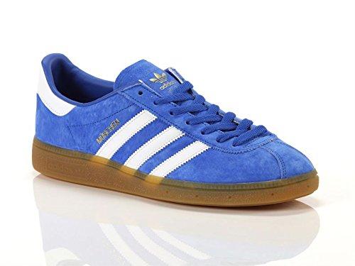 Adidas - Munchen - BY1723 - Color: Blanco-Azul-Dorado - Size: 43.3 3sWyT