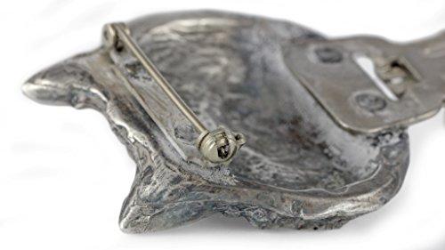 Norwich Terrier, Silberstempel 925, Hund clipring, Hundeausstellung Ringclip/Rufnummerninhaber, limitierte Auflage, Artdog -