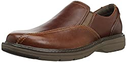 Clarks Cushox Step Slip-on Loafer Dark Tan Leather 8.5 C/D US