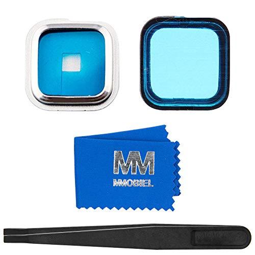 MMOBIEL Rück Back Kamera Linse mit Cover Ersatz mit Pizette und Tuch kompatibel mit Samsung Galaxy S5 G900 Series (S5 Back Cover-ersatz Galaxy)