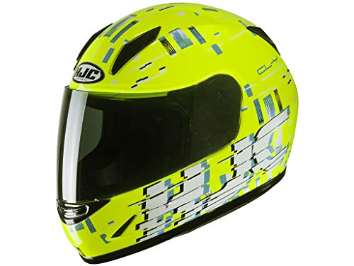 Helmet HJC JUNIOR CL-Y GARAM YELLOW/BLUE M