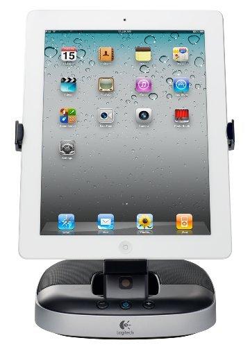 Logitech Halterung/Lautsprecher schwarz-silber (für iPad, iPad 2 und iPad 3. Generation, Tablets) (Logitech Ipad 2 Lautsprecher)