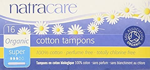 Certified Organic 100% Cotton Super Applicator Tampons Natracare 16 Tampon by Natracare