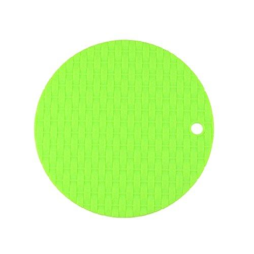 Merssavo Tapis de napperon anti-dérapant résistant à la chaleur rond durable de nappe 20x20cm de silicone