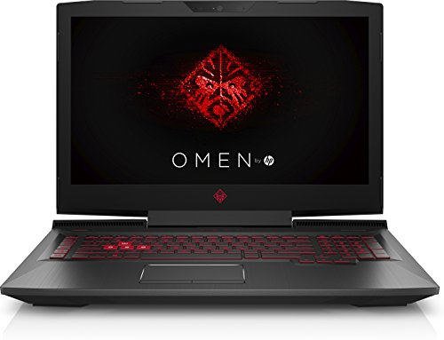 HP OMEN 17-an007ns - Ordenador portátil gaming de 17.3'' Full HD (Intel Core i7-7700HQ, 16 GB RAM, HDD de 1 TB y SSD de 256 GB, NVIDIA GTX 1070 8GB GDDR5, Windows 10, teclado qwerty español), negro