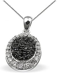 Goldmaid - Pa C4373S - Black & White - Collier Femme - Argent 925/1000 5.8 gr - Oxyde de Zirconium - 37 noirs et 23 blancs - 45 cm
