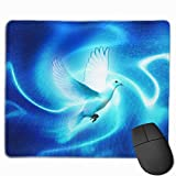Professional Gaming Mouse Pads Dove Bright Art Laptop Pad Non-Slip Rubber Stitched Edges 18X22cm