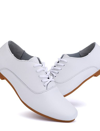 ZQ 2016 Scarpe Donna - Stringate - Ufficio e lavoro / Formale / Casual - Punta arrotondata - Piatto - Finta pelle - Bianco , white-us9 / eu40 / uk7 / cn41 , white-us9 / eu40 / uk7 / cn41 white-us6 / eu36 / uk4 / cn36
