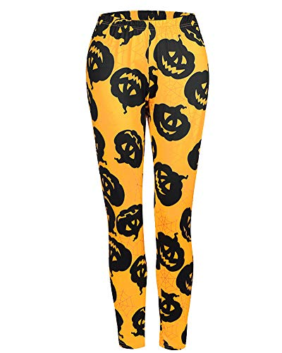 Gedruckt Halloween Knochen Fitnesshose Schädel Leggings Halloween Hosen ()