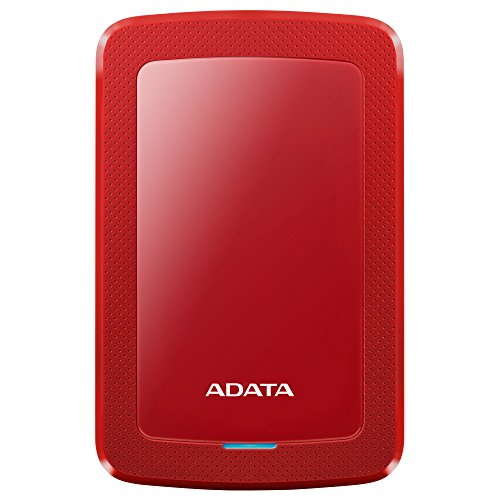 ADATA HV300   Disco duro externo (USB 3.1, 2,5, disco duro portátil, ultrafino, 4 TB), color rojo