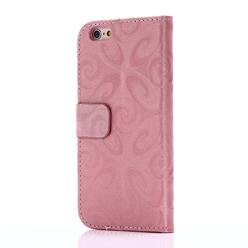 C-Super Mall-UK Apple iPhone 6 Plus / 6s Plus 5.5 Inch hülle: Schmücken Treibsand Patterns Qualität PU-Leder Brieftasche Stand Flip hülle für Apple iPhone 6 Plus / 6s Plus 5.5 Inch(Kelchglas) Pink