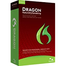 Nuance Dragon NaturallySpeaking Professional 12 - Software de reconocimiento de voz (3200 MB, 1024 MB, Intel Pentium/AMD 1.00 GHz, ENG)