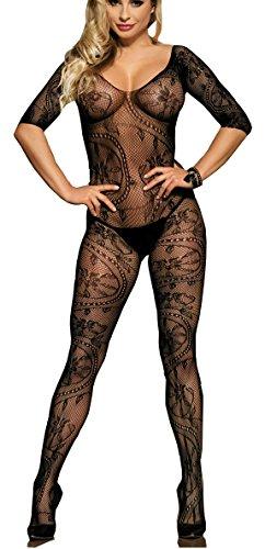 100% True Bodystocking A Rete Cavallo Aperto Sexy Open Crotch 5 Colori Intimo Catsuit Aromatic Flavor Body