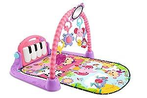 Fisher-Price Gimnasio Piano Pataditas Rosa, Manta de Juego bebé (Mattel BMH48)