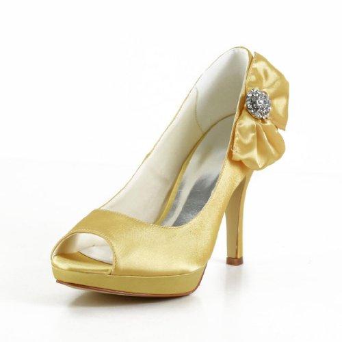 Jia Jia Wedding 3708A Scarpe Sposa Scarpe col tacco donna Oro