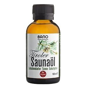 BANO Tiroler Saunaöl 100ml – Saunaaufgussöl mit Latschenkiefer, Tanne und Eukalyptus