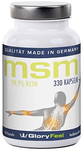 MSM Soufre Organique - Poudre MSM pur - 240 capsules à fortes doses: 99,9% pure MSM (méthyl-sulfonyl-méthane) - 1200 mg de poudre MSM purement + 24 mg Vitamine C par dose quotidienne - 5-6 mois MSM cure - Qualité Supérieure