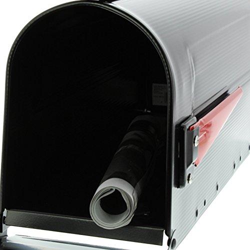 BURG-WÄCHTER, US-Mailbox mit schwenkbarer Fahne, Aluminium, 891 S, Schwarz - 4