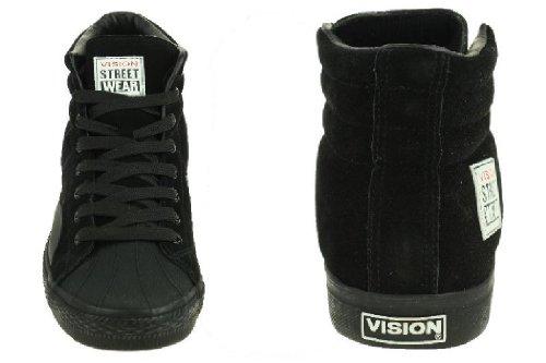 Vision Street Wear Chaussures Suede Hi Skate Noir + Gris Noir