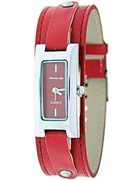 Reloj analógico de señora Christian Gar Mod.Cullera 7237- Color Rojo