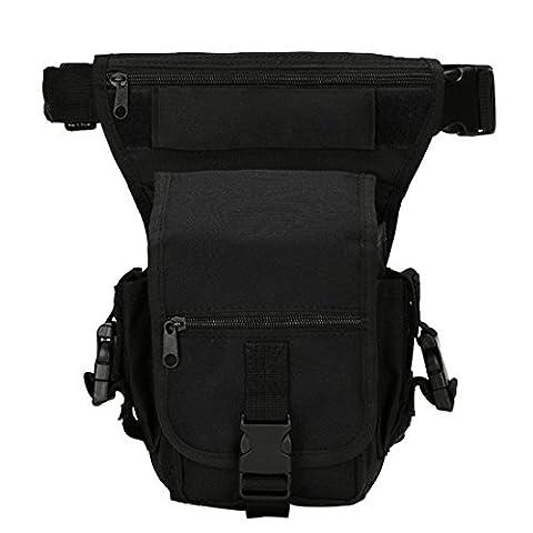 iTECHOR Mehrzweck Abnehmbare Tactical Military Tropfen-Bein-Taillen-Beutel-Reit Tasche für Motorrad-Außen-Fahrrad-Schenkel-Satz-Taillen-Gürteltasche -