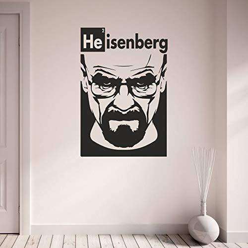 zqyjhkou Breaking Bad Vinyl Aufkleber Spielzimmer Grafik Transfer Art Decor Boy Room Wandtattoos Wandbild Dekoration Aufkleber D737 58 x 39 cm