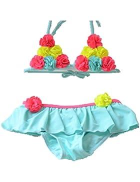 opsun costume da bagno 1pezzo Swimsuit Bambino Ragazza Stampato Floreale, neonata Bambina, blu
