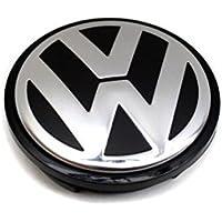Original VW Alloy Wheel Centre Cap Satin Black High Chrome - 3B7601171 XRW