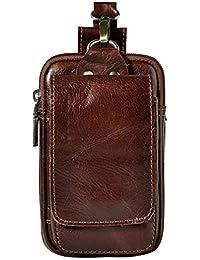 a04b0f90921 Homme en Cuir Petit Téléphone Pochette Sac Bum Bag Banane Sac à Bandoulière  Sacs de Téléphone