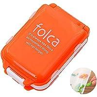 KOBWA Portable 7 Tage Pille Fall Box, Tablet Medizin Vitamin Pille Organizer Container Pill Box 8 Fächer, Reise... preisvergleich bei billige-tabletten.eu