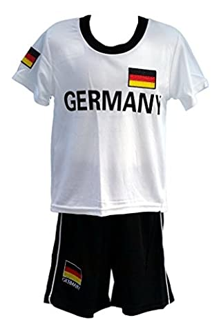 Fussball Fan Set Deutschland Germany Trikot + Shorts, Gr. 140/146, JS53.12e