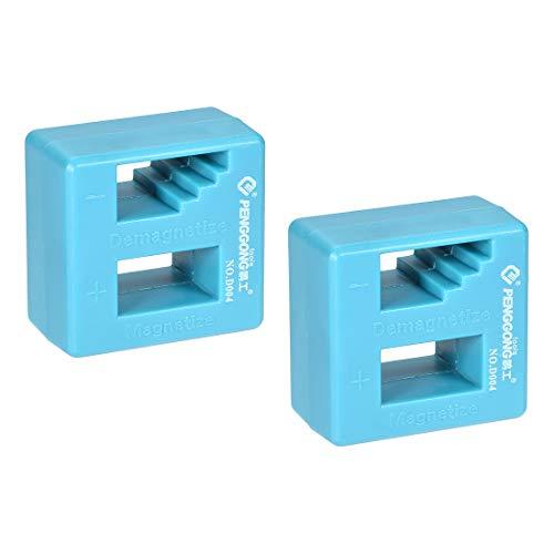uxcell Magnetizer Entmagnetisierer Werkzeug für Schraubendreher-Bits, Stecknüsse und kleine Werkzeuge, 2 Stück