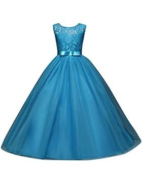 Beikoard, abito da ragazza elegante e floreale, da principessa, elegante, per matrimonio, vacanza, damigella