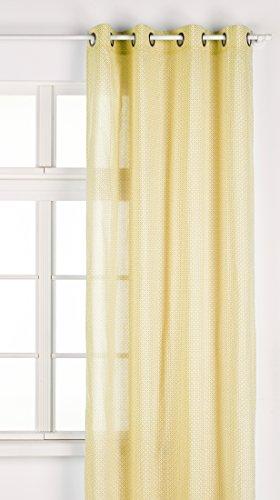 Lovely casa dixon voile 135x 260occhio cotone giallo 135x 260cm