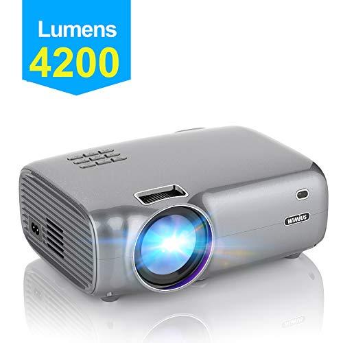 Vidéoprojecteur, WiMiUS 4200 Lumens Vidéo Projecteur Portable Full...