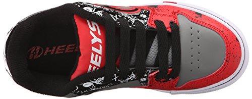 Heelys Motion Plus (770533) Unisex-Kinder Sneaker Rot (Red / Black / Grey / Skulls)
