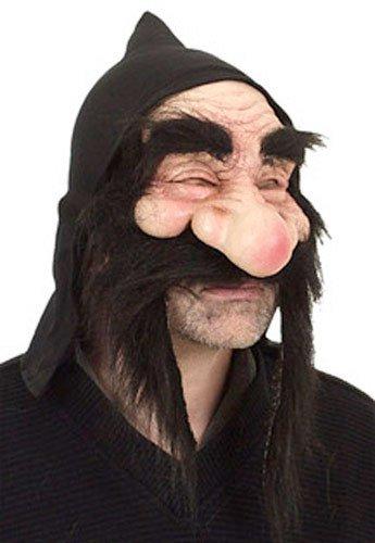 Wikinger Maske (Zwerg Maske schwarz)