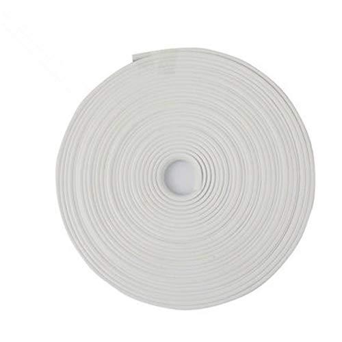 Alivier 8 m Auto Kantenschutz Türverkleidung Verkleidung Schutz Zierleiste Anti-Kratzer Gummi-Abdeckung, weiß, 8 m