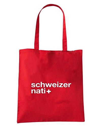 T-Shirtshock - Borsa Shopping WC1238 Schweizer Nati Maglietta Rosso