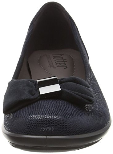 Hotter Alice, Ballerines femme Bleu - Blue (Navy Lizard)
