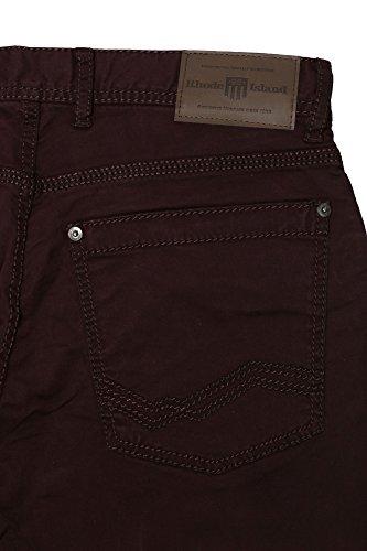 Rhode Island Jeans Herren Slim Fit Stretch Bordeaux