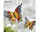 Wand-Deko Schmetterlinge 2er-Set in Mosaikstein-Optik für Innen und Außen